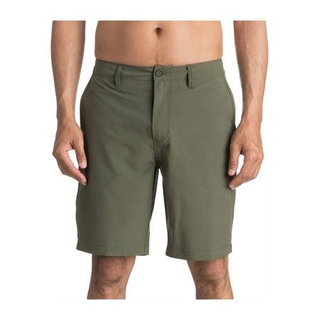59f5719d04 Quiksilver Mens Vagabond Flat-Front Swim Bottom Board Shorts - image 1 of 1  ...
