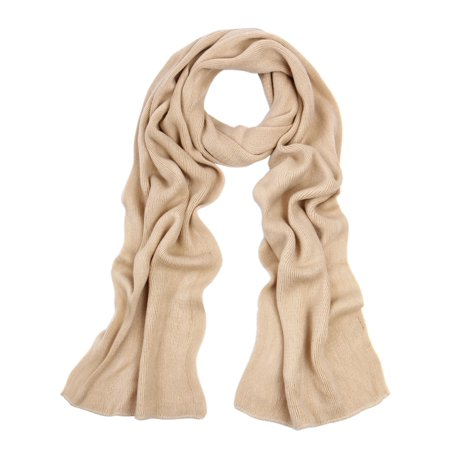 Fine Scarf - Premium Long Fine Knit Solid Color Warm Winter Scarf