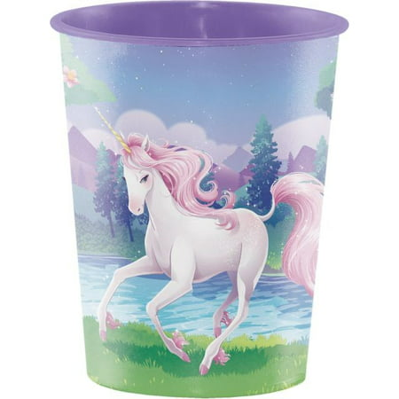 Access Plastic Keepsake Cup, 16 Oz, Fantasy Unicorn, 1 Ct - Unicorn Party Ideas