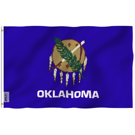 ANLEY Fly Breeze 3x5 Foot Oklahoma State Flag - Vivid Color and UV Fade Resistant - Canvas Header and Double Stitched - Oklahoma OK Flags Polyester with Brass Grommets 3 - Oklahoma Polyester