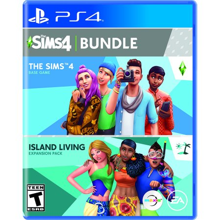 The SIMS 4 Bundle with Island Living Expansion Pack, Electronic Arts, PlayStation 4, 014633743081