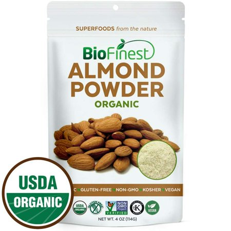 Biofinest Almond Powder - 100% Pure Freeze-Dried Antioxidants Superfood - USDA Certified Organic Kosher Vegan Raw Non-GMO - Boost Digestion Weight Loss - For Smoothie Beverage Blend