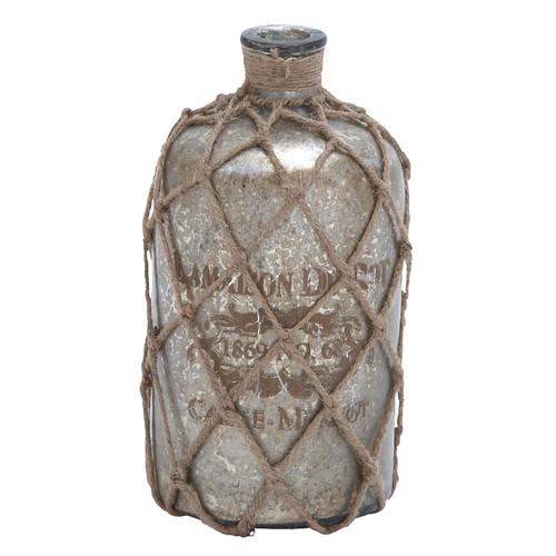 Woodland Imports Jute Decorative Bottle