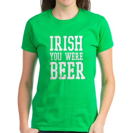 CafePress - Stpats_Beerwish_Wt T-Shirt - Women's Dark T-Shirt