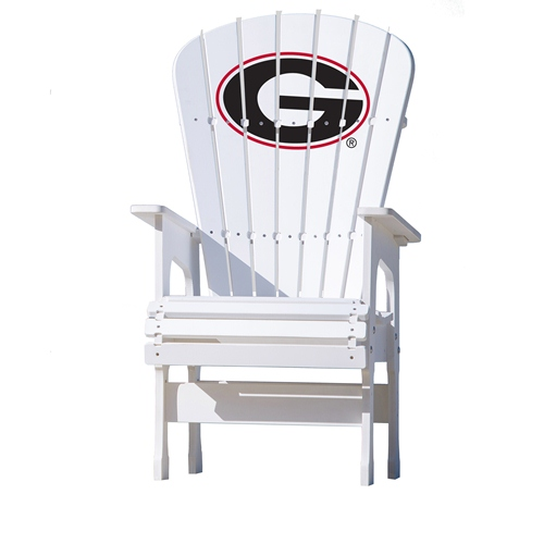 NCAA High Back Chair by Key Largo Adirondack - University of Georgia, G Logo