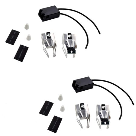 HQRP 2-Pack Range Top Burner Receptacle Kits Replacement for Kenmore 747954610 7479547611 9609012190 9609012191 9609072890 664RF3020XYN1 664RF3020XYN2 664RF3020XYW0 Oven Stove plus HQRP