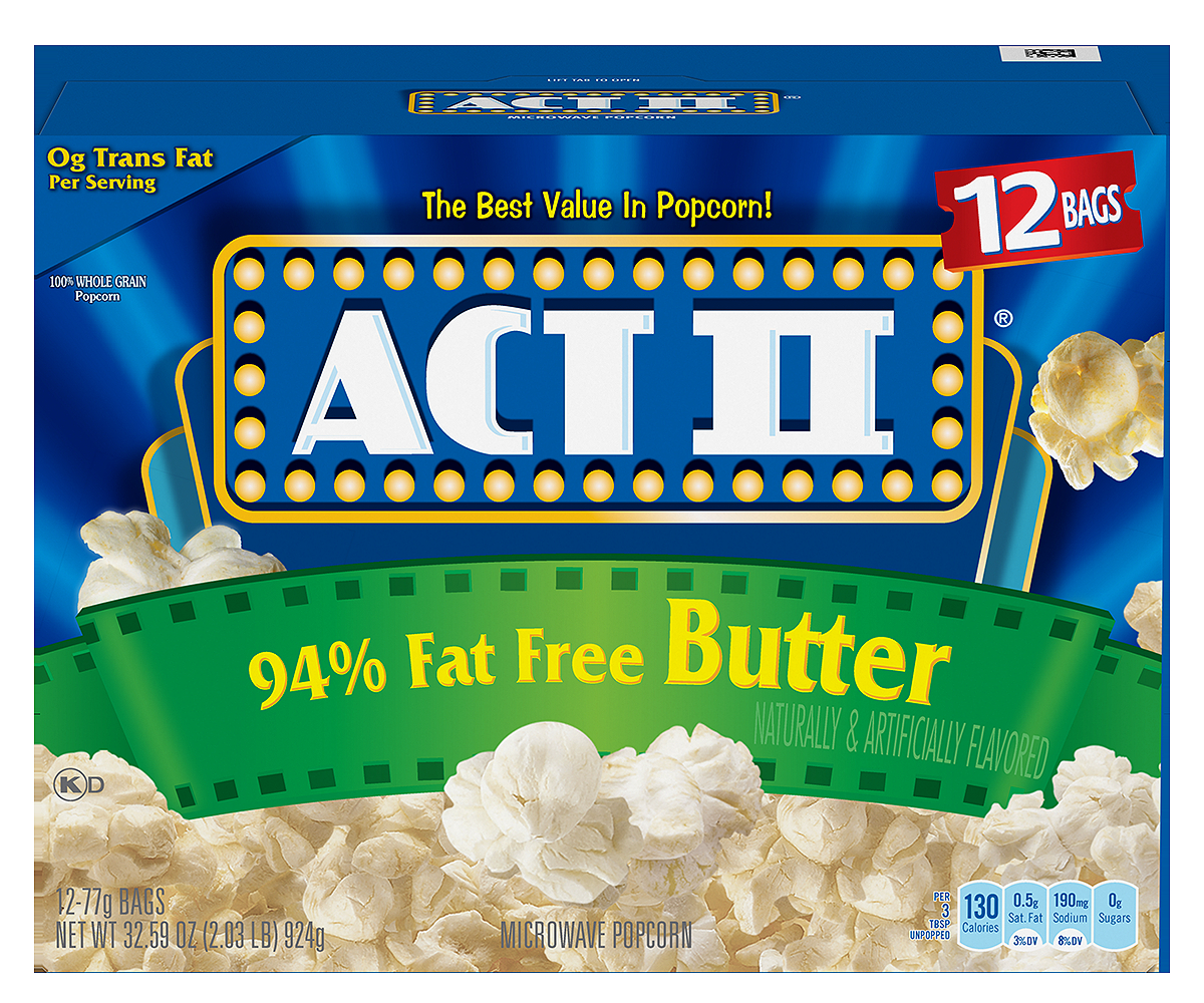 ACT II 94% Fat Free Butter Popcorn, 2.71 Ounce (12 Count) by ConAgra Foods Inc.