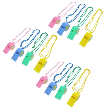 12 Pcs Colorful Neck Strap Match Basketball Referee Whistles - Basketball Whistle