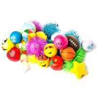Neliblu Stress Squeeze & Puffer Balls Toys Assortment 1 Dozen Stress Relief, Most Popular Selection of Hand Exercise & Therapy Balls