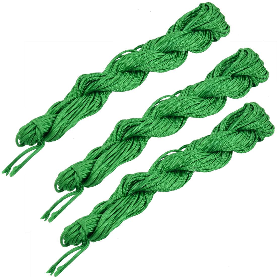 Nylon Handmade Craft DIY Chinese Knot Necklace Cord String Green 16 Yards 3pcs
