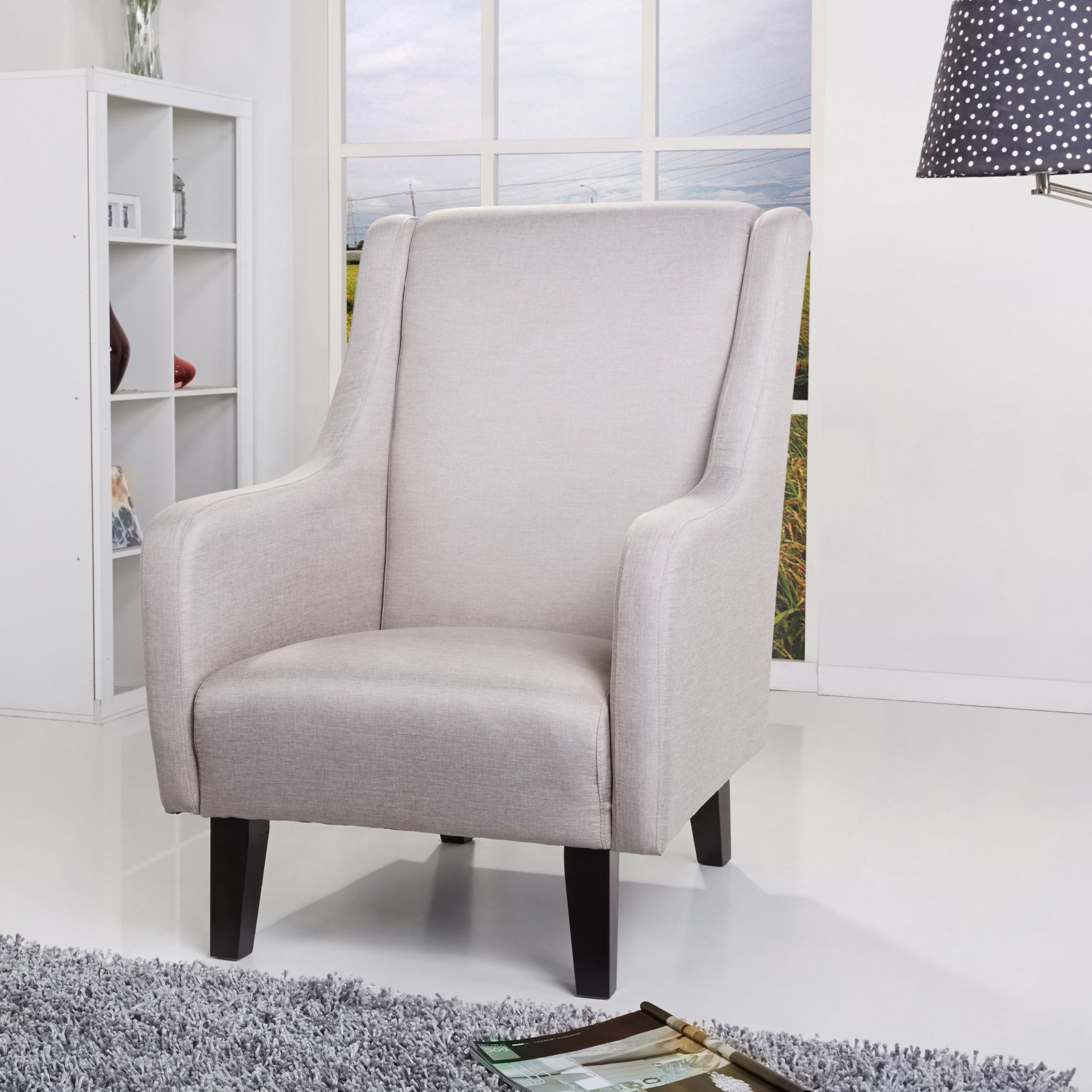 Gold Sparrow Anaheim Wingback Chair