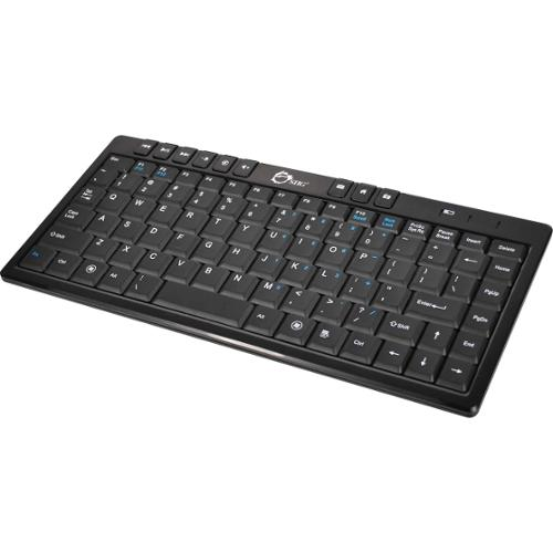 SIIG Wireless Ultra Thin Multimedia Mini Keyboard - Wireless Connectivity - RF - Retail - USB 2.0 Interface - 87 Key - E