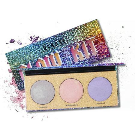 Sugar Skull Make Up Kit (Cosmetic Kit Makeup Chameleon Highlighter Crystal Sugar Highlighting Bronzer Glow Shimmer Eyeshadow)