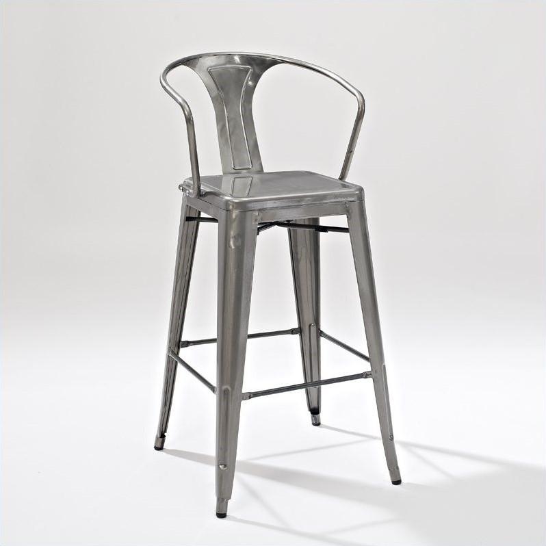Crosley Furniture Amelia 30 Quot Metal Bar Stool In Galvanized
