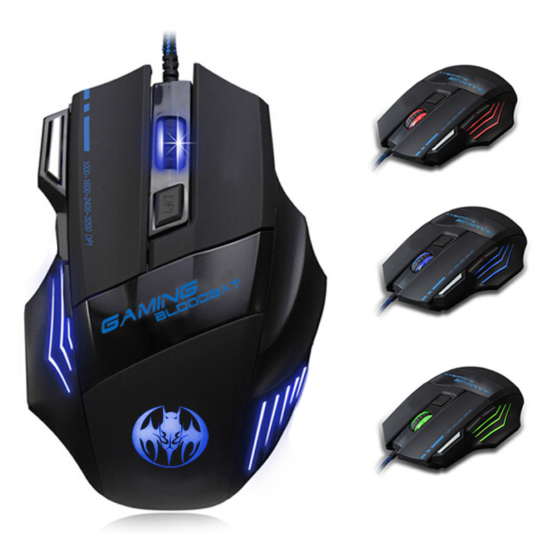 3200 DPI 8D LED Optical USB Wired Gaming Mouse Mice For Pro Gamer Popular