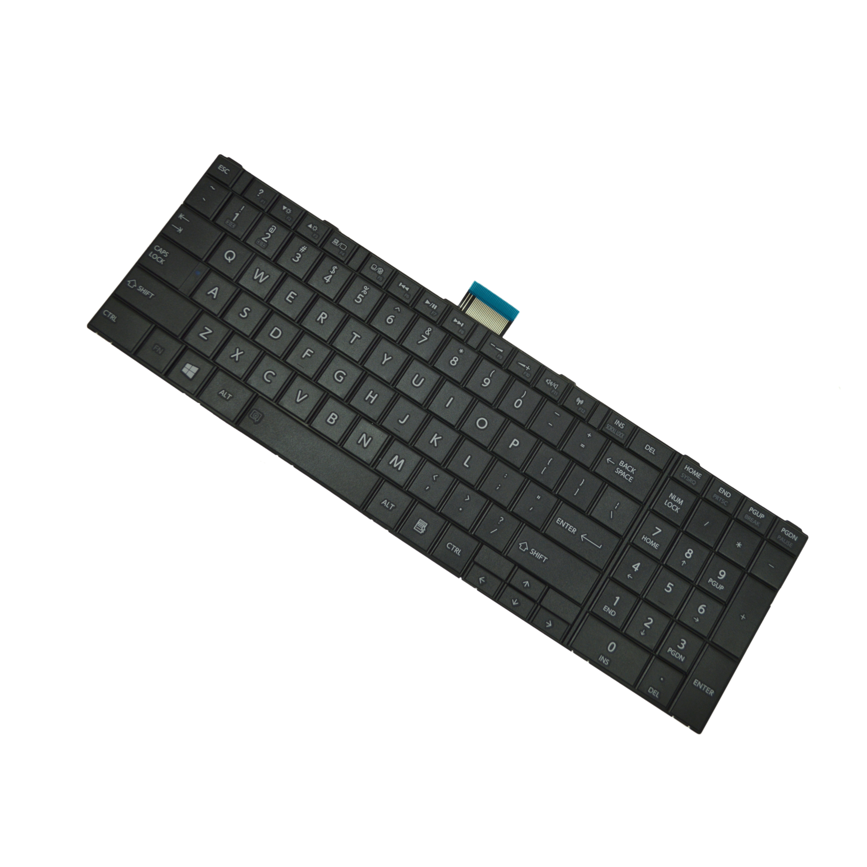 HQRP Laptop Keyboard for Toshiba Satellite C875D-S7105 / C875D-S7120 / C875D-S7220 / C875D-S7222 / C875D-S7223 Notebook plus HQRP Coaster