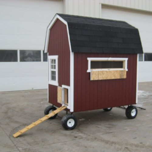 Little Cottage Barn Chicken Coop with Wheels - 4L x 6W ft.