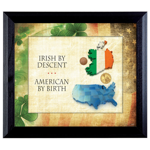 American Coin Treasures Irish By Descent Framed Memorabilia