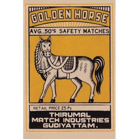A brand of matches made in India for export featuring a horse on the box top art Poster Print by (Best Bank For Export Business In India)