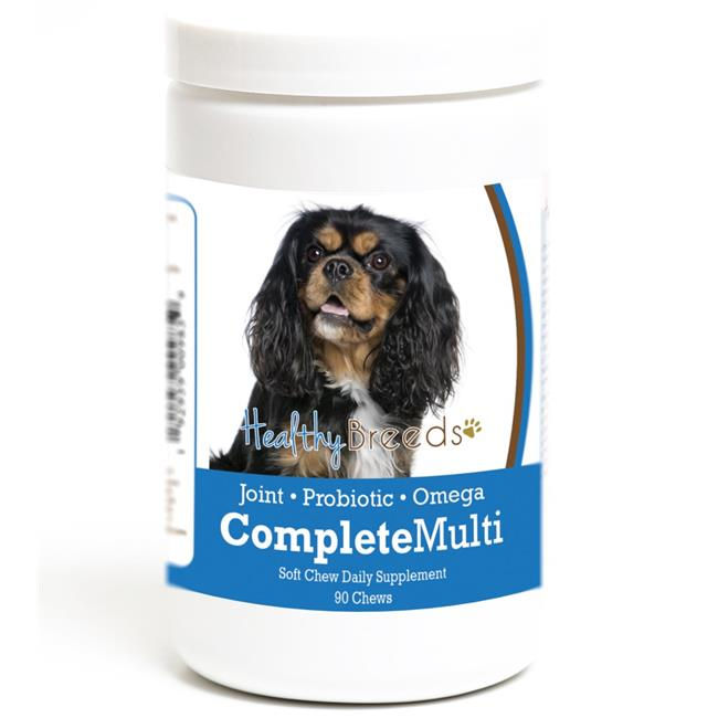 Healthy Breeds 192959009859 Cavalier King Charles Spaniel all in one Multivitamin Soft Chew - 90 Count