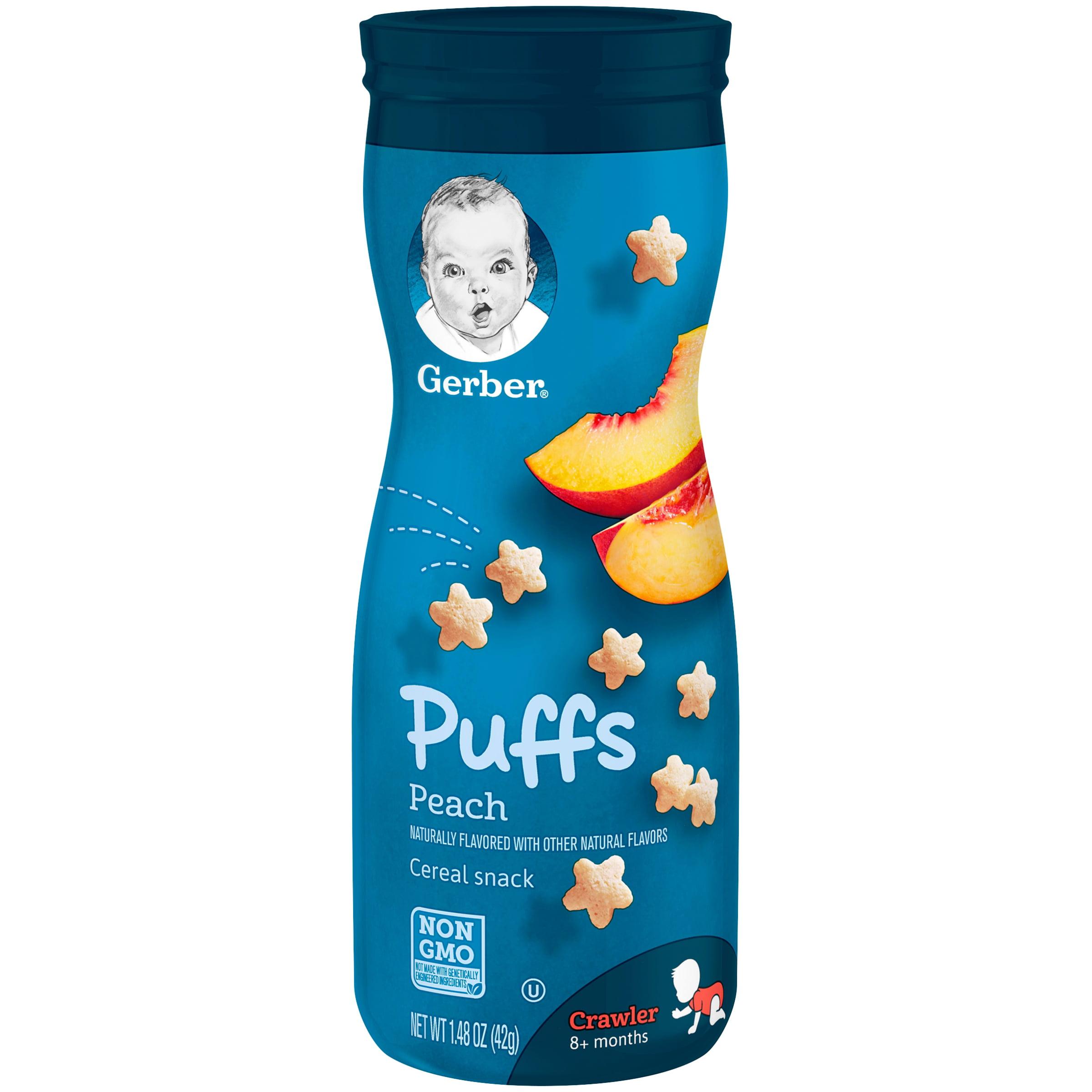 Gerber Puffs Peach, 1.48 oz Canister