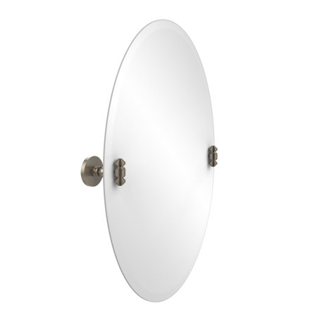 Allied Brass SB-91-PEW 29-Inch X 21-Inch Oval Tilt Mirror, Antique Pewter