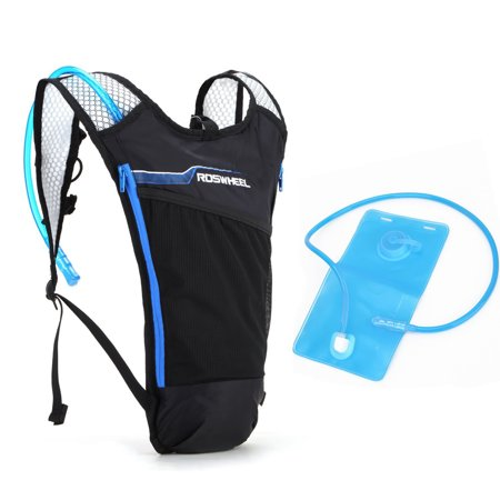Weanas Lightweight Multifunction Hydration Backpack  Hydration Pack Bladder Bag   With 2L Hydration Bladder  For Outdoor Sports  Bicycle  Cycling  Running  Hiking  Black Blue