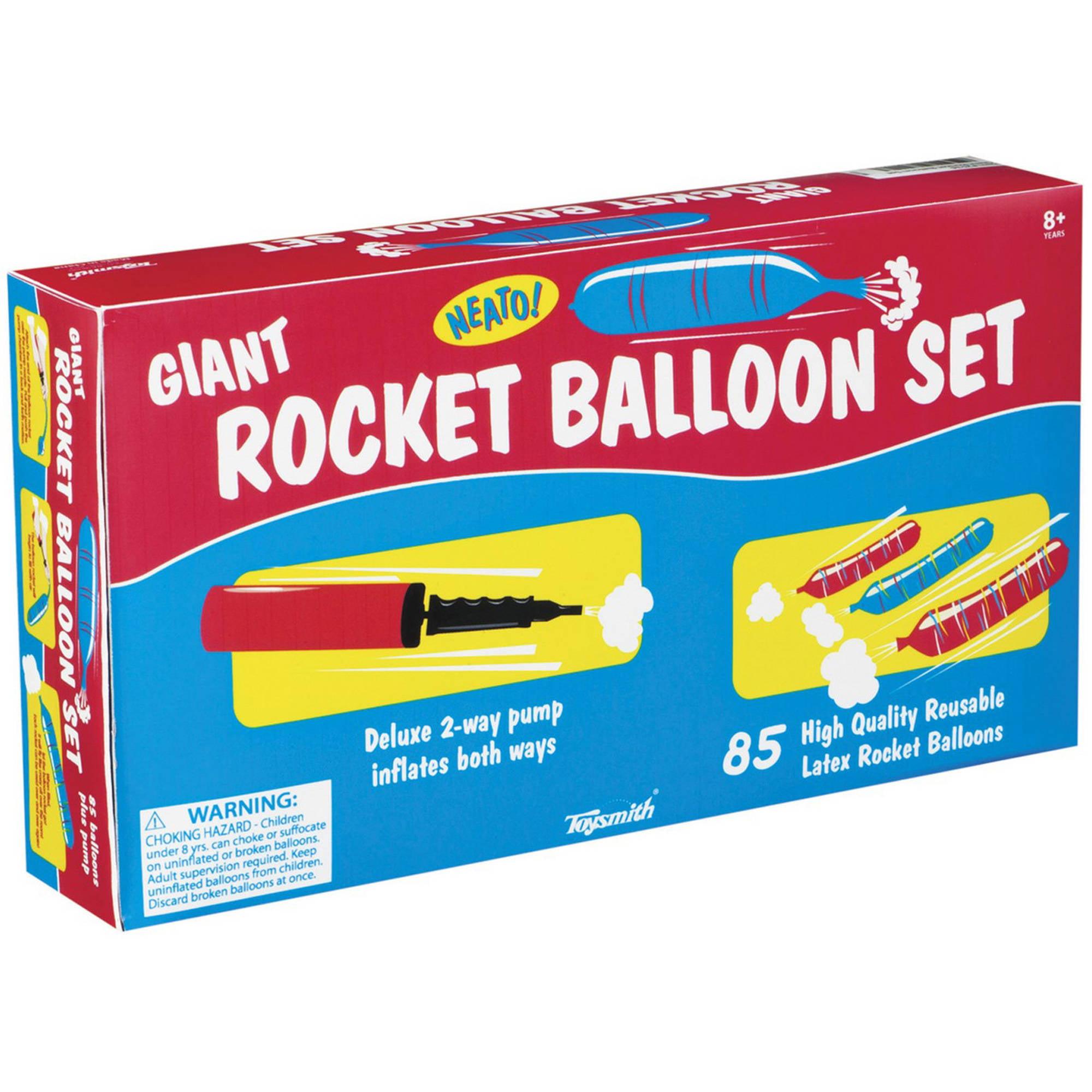 Toysmith Giant Rocket Balloon Set With Pump Walmartcom