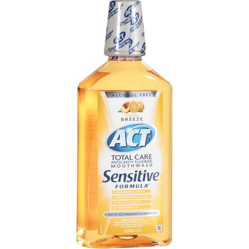 ACT Total Care Tropical Breeze Anticavity Fluoride Mouthwash, 33.8 fl oz