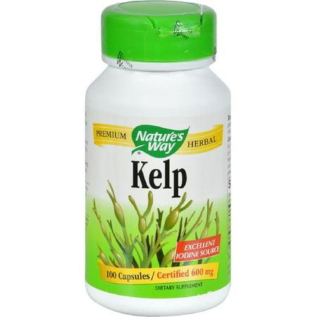 Nature's Way Kelp Capsules, 600 mg 100 ea (Pack of 2) 300 Mg Natures Way