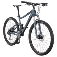 "Mongoose Salvo Comp 29"" Men's Full Suspension Mountain Bike, Charcoal, Small"