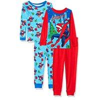 Spiderman Spidey Spider Man Boys 4 pc Holiday Pajama Set (8)