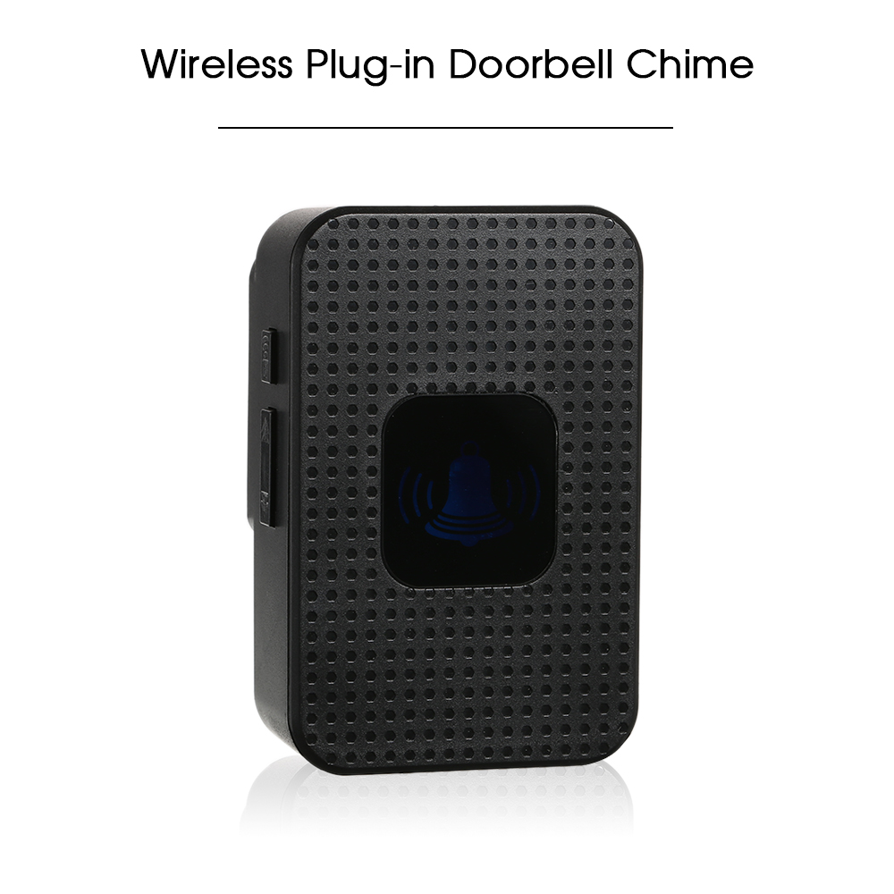 Wireless Plug-in Doorbell Chime With LED 5 Levels Volume 55 Ringtones Compatible with Visual Doorbell with WiFi Wireless Doorbell App Voice Tips for Visitors Waterproof