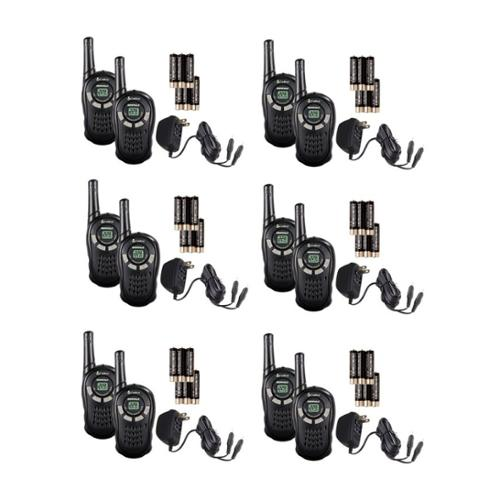 (12) COBRA CXT135 MicroTalk 16 Mile 22 Channel Walkie Talkies 2-Way Radios
