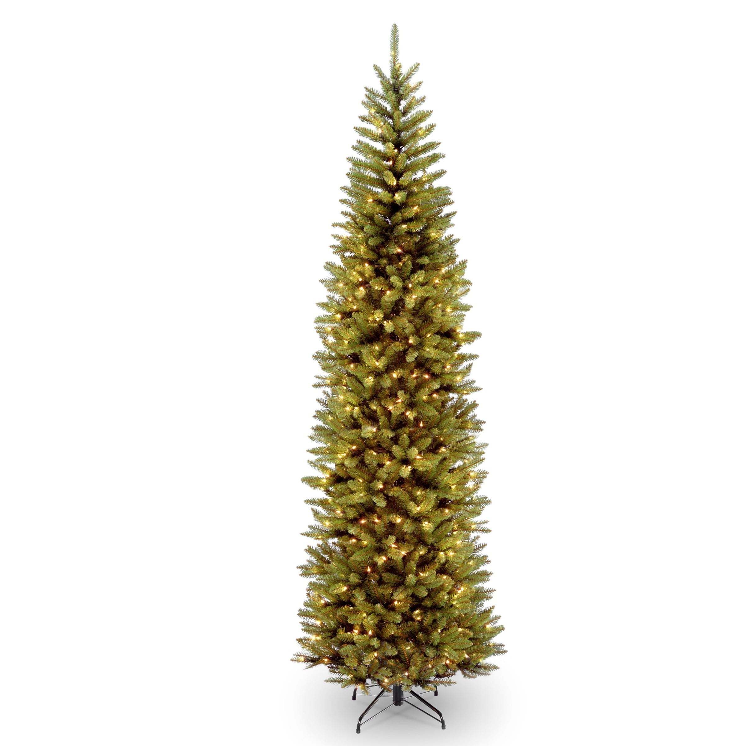 National Tree Company 10 ft. Kingswood Fir Pencil Tree with Clear Lights