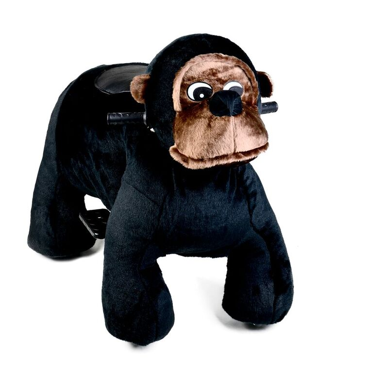Motorized Plush Chimp Ride On Toy Coin Operated Electric Animal Scooter by