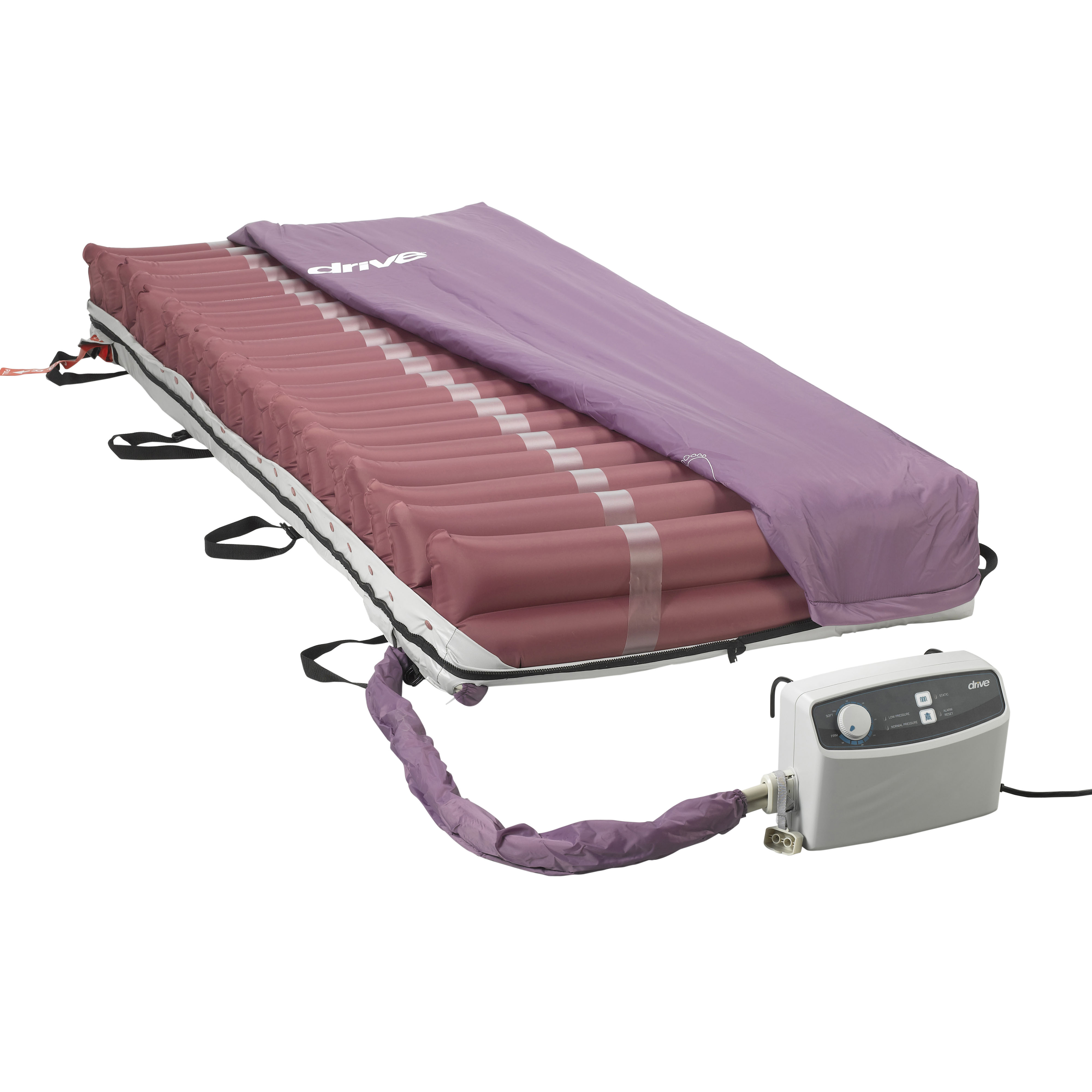 drive medical med aire low air loss mattress replacement system with alternating pressure walmartcom
