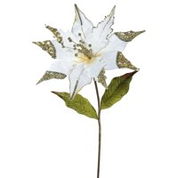 "Vickerman 26"" Cream Poinsettia, 12"" Flower 3/Bag"