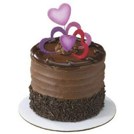 Cut Out Assortment - 100 ct~ Heart Cut Out 3 Color Assortment Gum Paste ~ Cake Topper ~ Not Edible