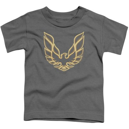 Pontiac Boys' Iconic Firebird Childrens T-shirt Charcoal](Childrens Clothing Usa)