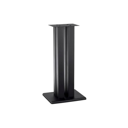 Monoprice Monolith 32 Inch Speaker Stand (Each) - Black | Supports 100 lbs, Adjustable Spikes, Compatible With Bose, Polk, Sony, Yamaha, Pioneer and (Used Bose Surround Sound System For Sale)