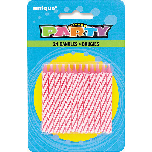 Birthday Candles, 2.5 in, Pink, 24ct