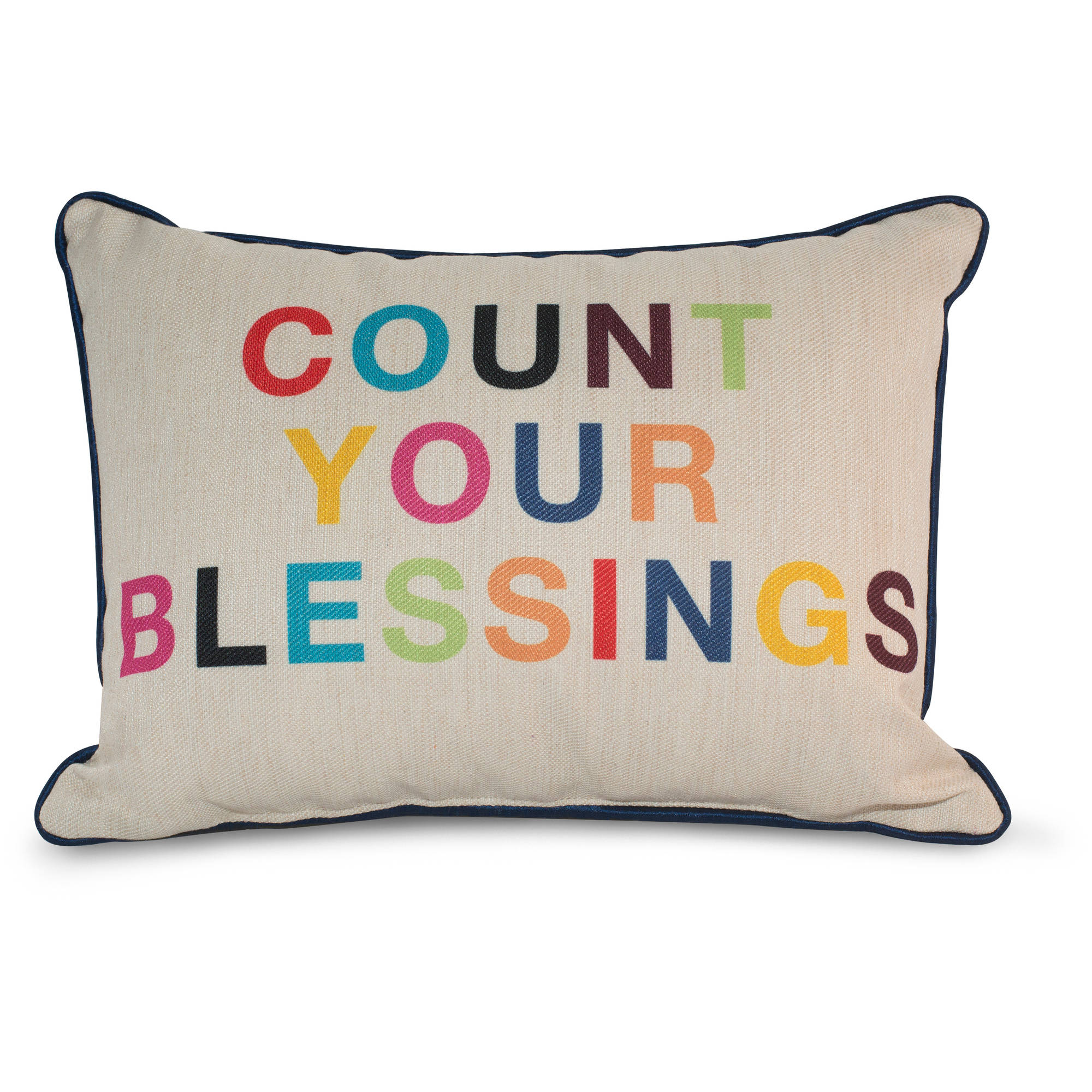 9 by Novogratz Count Your Blessings Decorative Pillow, Bright