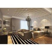 Contempo Living Inc 3D Wall Panels Plant Fiber Space Design (10 Panels Per Box)