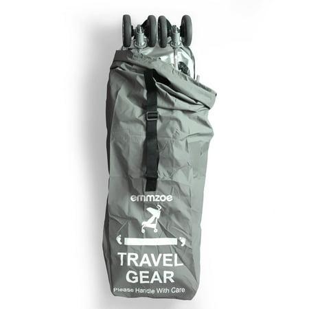 Emmzoe Premium Umbrella Stroller Airport Gate Check Travel Storage Bag Features Durable Nylon, Foldable Pouch, Hand / Shoulder Strap