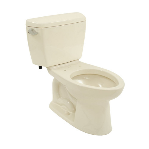 Toto Drake Two Piece Elongated 1.6 GPF Toilet with G-Max Flush System, Less Seat, Available in Various Colors
