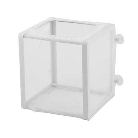 Fish Tank Aquarium Plastic Frame Isolation Divider Fry Hatchery Net - White Fish Net