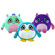 Mushmeez Squeezy, Squishy, Moldable Plush, Stuffed Animal - 3 Pack (Cat, Peguin, Unicorn)