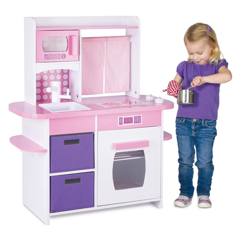Guidecraft Cooking Delights Kitchen - Pink