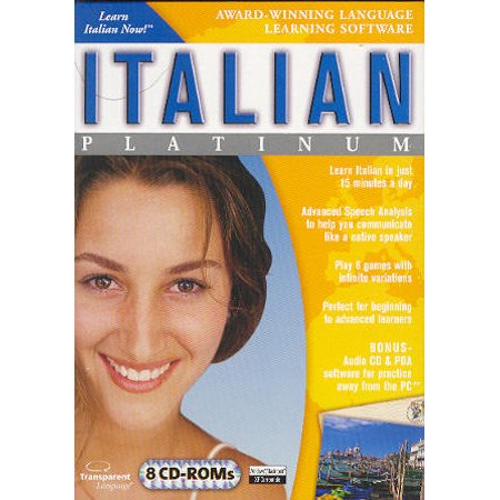 LEARN ITALIAN NOW Platinum 7 CDRom Language Set + Bonus Audio CD to practice on the go